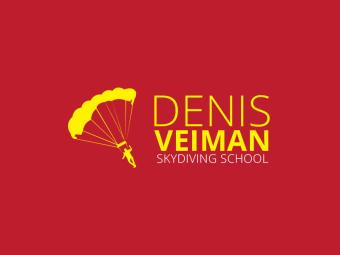 Логотип для школы парашютистов Denis Veiman