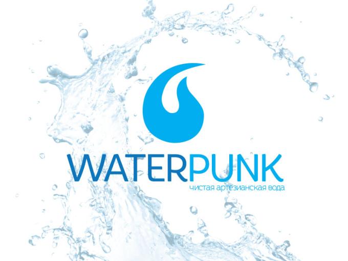 Логотип для доставки воды WaterPunk